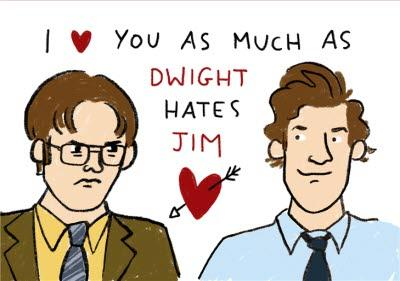 The Office US Themed Same Sex Valentines Day Card