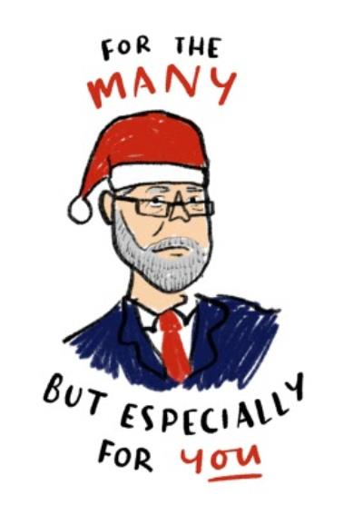 Funny Politics Christmas Card For The Many But Especially For You