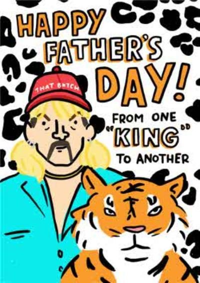 Topical Tiger King Father's Day Card