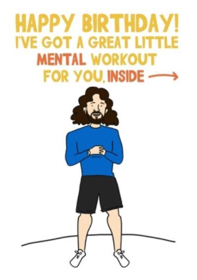 Joe Wicks Workout Birthday Card
