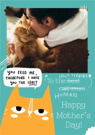 Humourous Photo Upload Mother's Day Card From The Cat