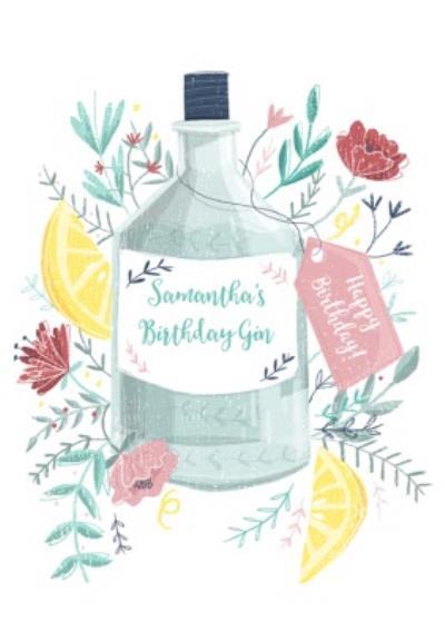Birthday Card - Birthday Gin - Alcohol - Gin And Tonic