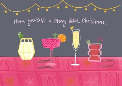Have Yourself A Merry Little Christmas Cocktail Card