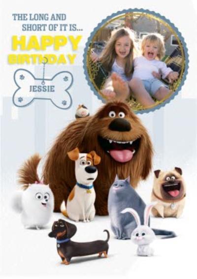 Universal Secret Life Of Pets Photo Upload Birthday Card