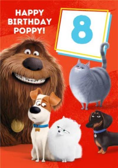 Universal Secret Life Of Pets 2 Happy 8th Birthday Card