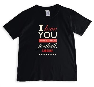 Valentine's Day More Than Football Personalised T-shirt
