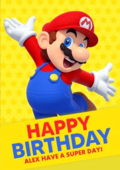 Nintendo Super Mario Birthday Card