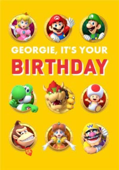 Nintendo Super Mario Characters Birthday Card