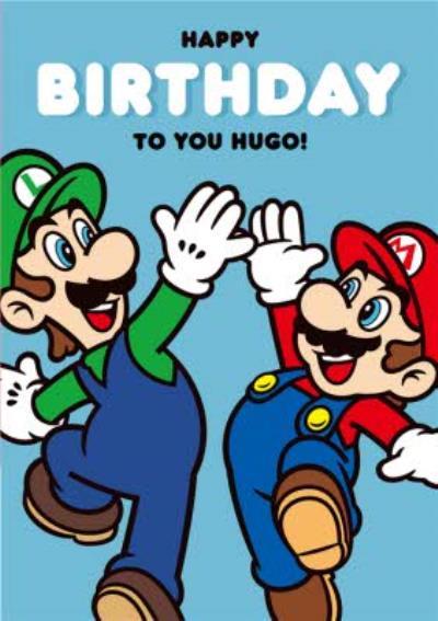 Nintendo Super Mario And Luigi Birthday Card