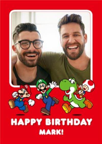 Nintendo Super Mario Photo Upload Birthday Card