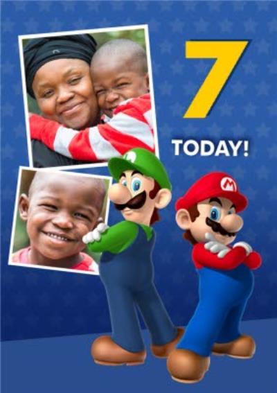 Nintendo Super Mario And Luigi Photo Upload 7 Today Customisable Birthday Card