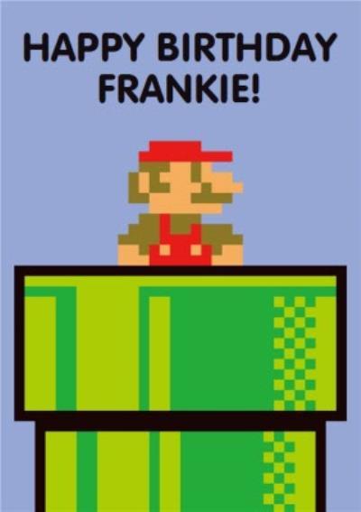Retro Super Mario Gaming Birthday Card