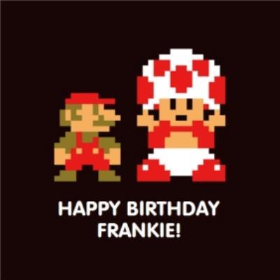 Nintendo Super Mario Toad Gaming Birthday Card