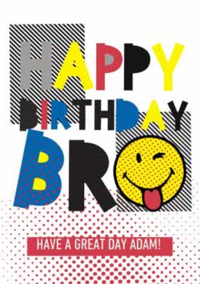 Smiley World Pop Art Personalised Birthday Card