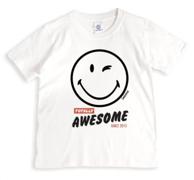 Totally Awesome Smiley Face Personalised T-Shirt