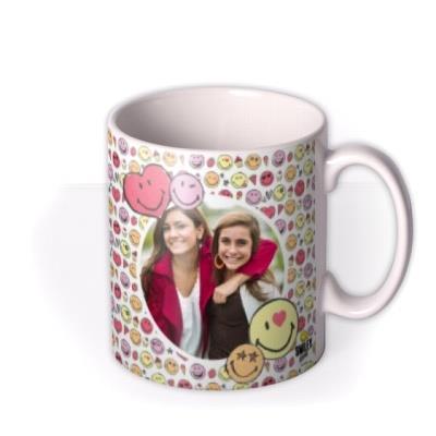 Cute Smiley World Photo upload Mug Besties Forever!