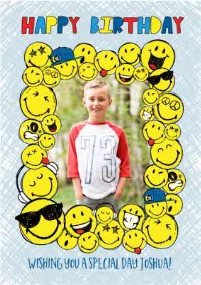 Smiley World Sticker Frame Photo Upload Card