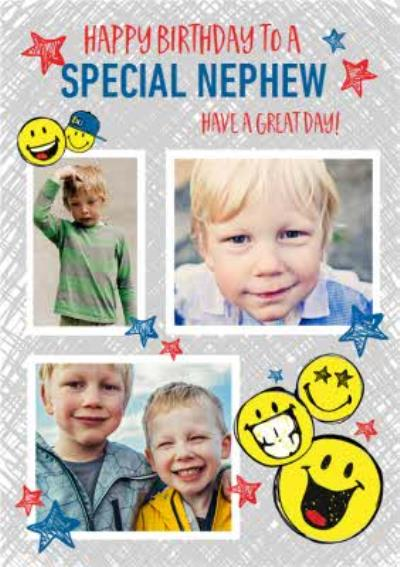 Smiley World Special Nephew Photo Upload Birthday Card