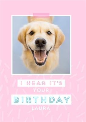 Female Modern Birthday Card For Her With Labrador Dog