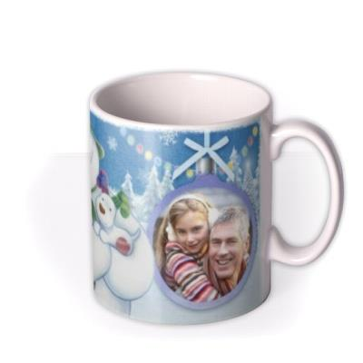 The Snowman And Snowdog Photo Upload Mug