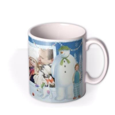 The Snowman And Snowdog Christmas Scene Photo Upload Mug