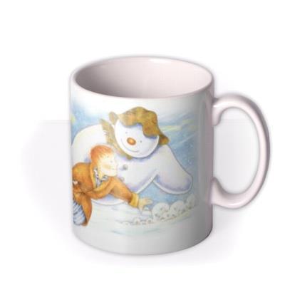 The Snowman Merry Christmas Grandson Personalised Mug