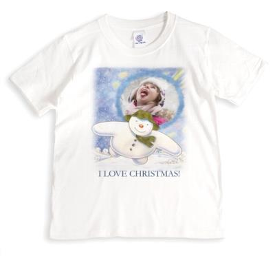 The Snowman I Love Christmas Photo Upload T-Shirt
