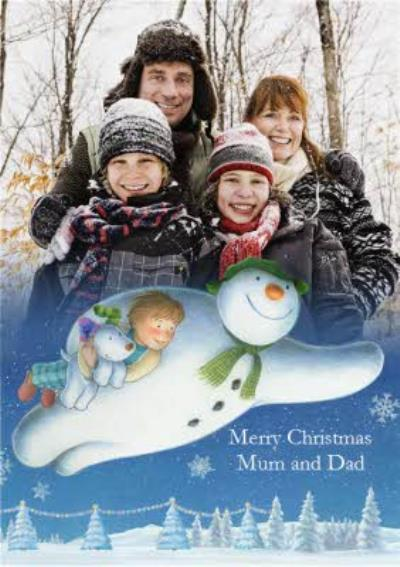 The Snowman Merry Christmas Mum And Dad Photo Card