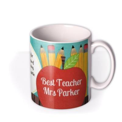 Blackboard & Thumbs Up Teacher Photo Upload Mug