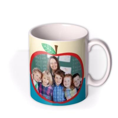 Top Teacher Apple Shape Photo Upload Mug
