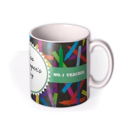 World's Best Teacher Stencil Personalised Mug