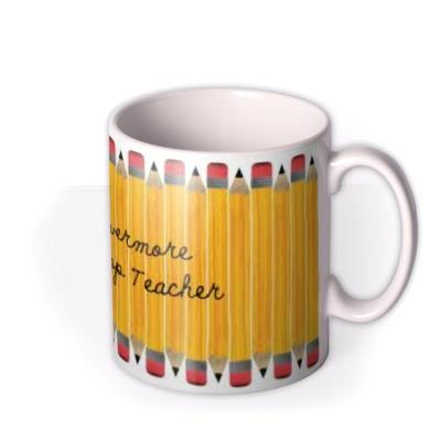 World's Best Teacher Pencil Personalised Mug
