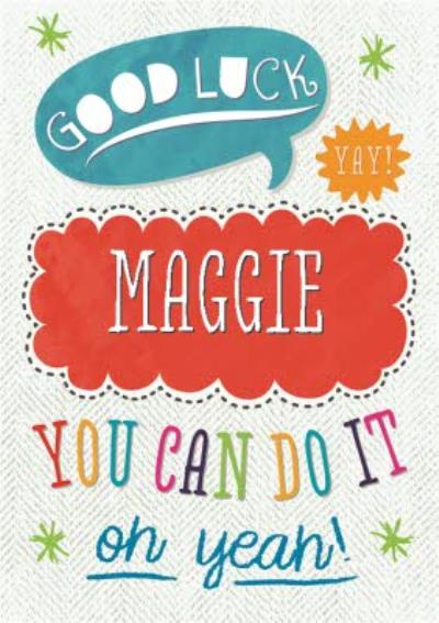 Personalised You Can Do It Can Do It Card