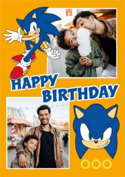 Sega Sonic Kids Happy Birthday 2 Photo Upload Card