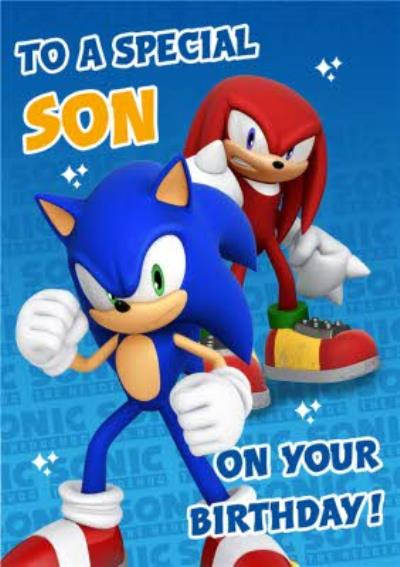 Sega Sonic Kids To A Special Son On Your Birthday Card