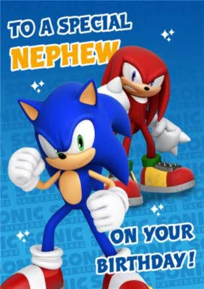 Sega Sonic Kids To A Special Nephew On Your Birthday Card