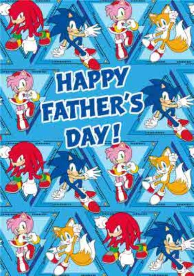 Sega Sonic Characters Father's Day Card