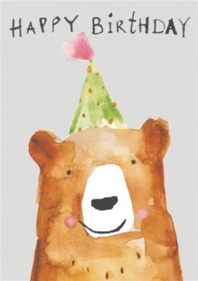 Cute Bear Happy Birthday Card