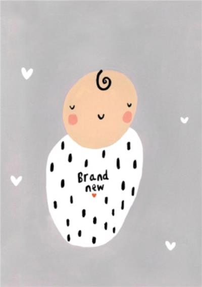 Cute Illustrated Brand New Baby Card