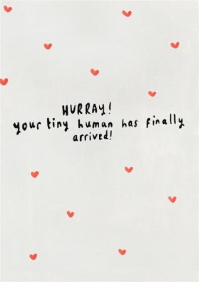 Cute Hurray Your Tiny Human Has Finally Arrived New Baby Card