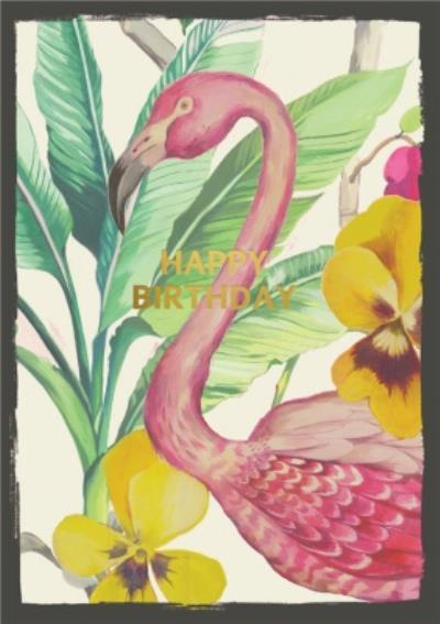 Illustrated Swan Happy Birthday Birthday Card