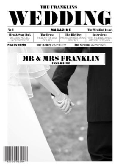 Wedding Magazine Cover Card
