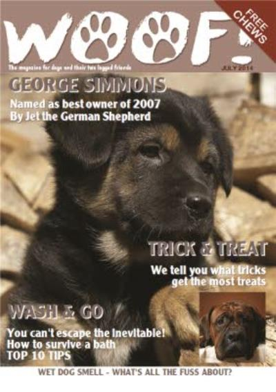 Woof Magazine Trick And Treat Personalised Photo Upload Card