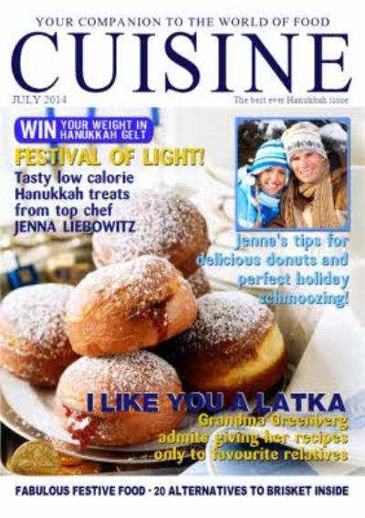Cuisine Spoof Magazine Special Happy Hanukkah Card