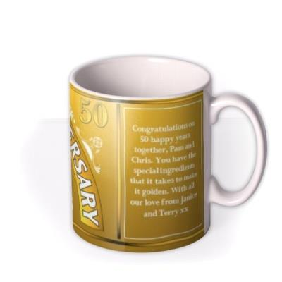 Golden Anniversary Personalised Photo Upload Mug