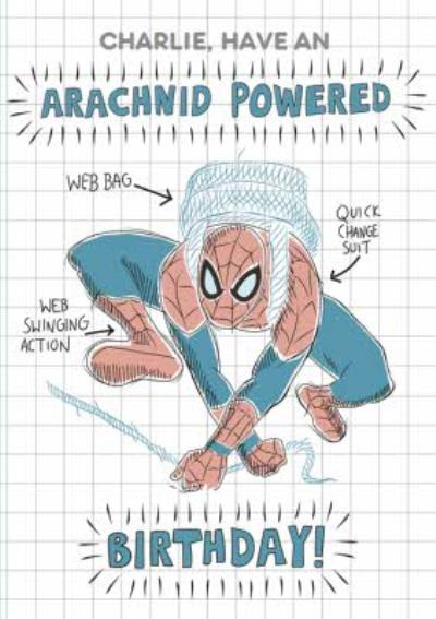 Marvel Spiderman Have An Arachnid Powered Birthday Card