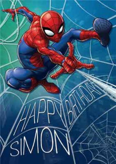 Marvel Spiderman Personalised Birthday Card