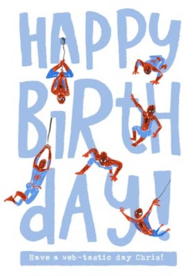Marvel Spiderman funny web-tastic birthday Card