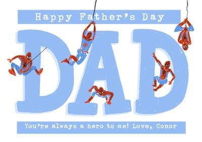 Marvel Spiderman You Are A Hero Father's Day Card