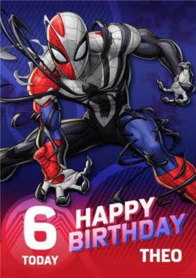 Spider-Man Maximum Venom 6 today Happy Birthday Card